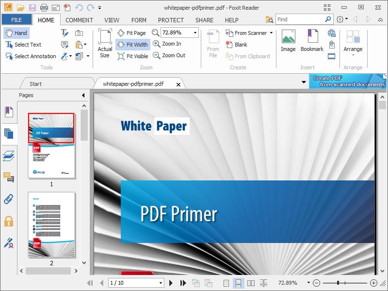 Foxit Reader Portable Pdf Reader And Creator Portableapps Com