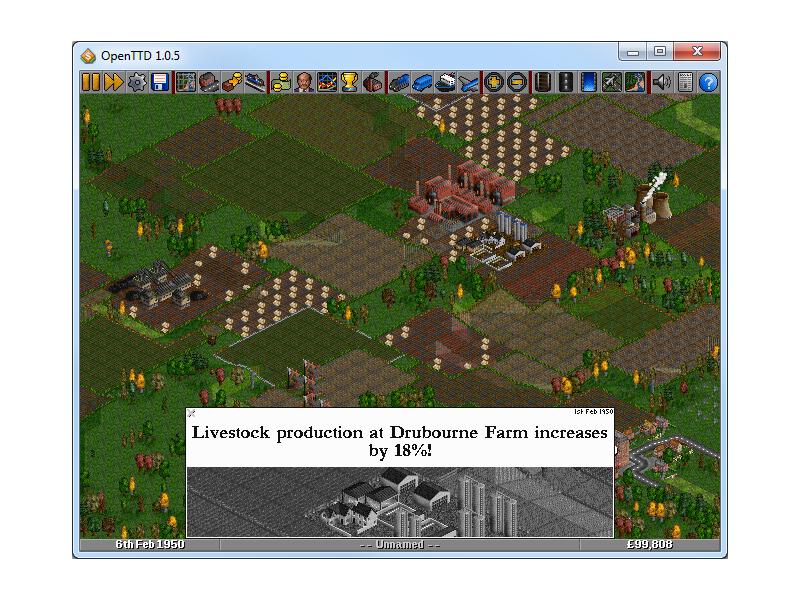 OpenTTD Portable full screenshot