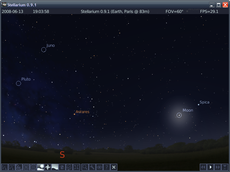 Portable Stellarium full screenshot