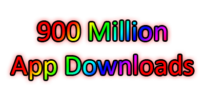 900,000,000 app downloads