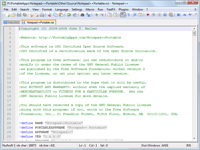 Notepad++ Portable Screenshot